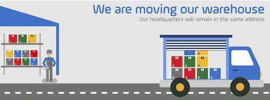 We are moving our warehouse